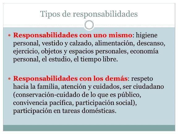 Tipos de responsabilidades