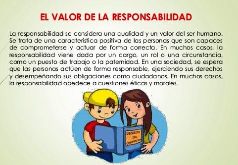 ¿Qué es el valor de la responsabilidad?