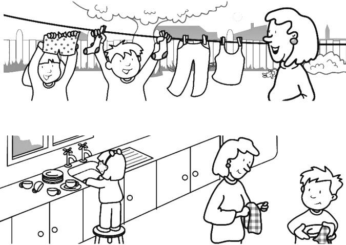 Dibujos de responsabilidades para colorear